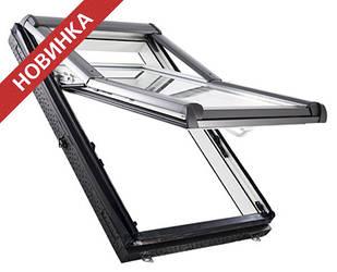 Двокамерні Мансардні вікна ПВХ Roto Designo WDF R79 K WD AL Мансардные окна
