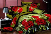 Красивое полуторное постельное бельё.