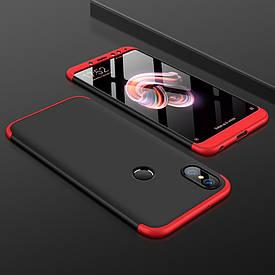 Чехол GKK 360 для Xiaomi Mi A2 / Mi 6X бампер оригинальный Black-Red