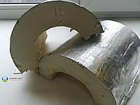 Теплоизоляционная скорлупа ППУ с фольгопергамином D168мм, толщина 35 мм, фото 1