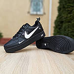 Женские кроссовки Nike Air Force 1 LV8 (черно-белые) 2994, фото 7