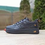 Женские кроссовки Nike Air Force 1 LV8 (черно-оранжевые) 2993, фото 2