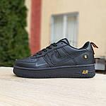 Женские кроссовки Nike Air Force 1 LV8 (черно-оранжевые) 2993, фото 3