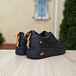 Женские кроссовки Nike Air Force 1 LV8 (черно-оранжевые) 2993, фото 9