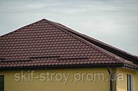 Металлочерепица Валенсия 0,45мм U.S. Steel Kosice матовый полиэстр Словакия. Гарантия 10 лет, фото 3
