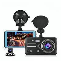 Видеорегистратор автомобильный DVR T672 (2 камеры, дисплей) Full HD