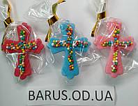 Пасхальное украшение из сахарной  мастики  Крест  5*4