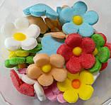 Пасхальное украшение из сахарной  мастики  набор Цветы льна микс, фото 3