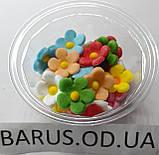 Пасхальное украшение из сахарной  мастики  набор Цветы льна микс, фото 2