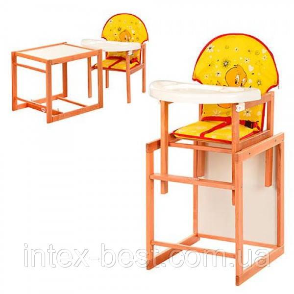 Детский деревянный стульчик для кормления M V-100-23-7
