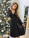 Платье шелк с плессировкой черное, фото 2