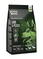 Сухой корм для собак всех пород Prima Dog с ягненком 12 кг.