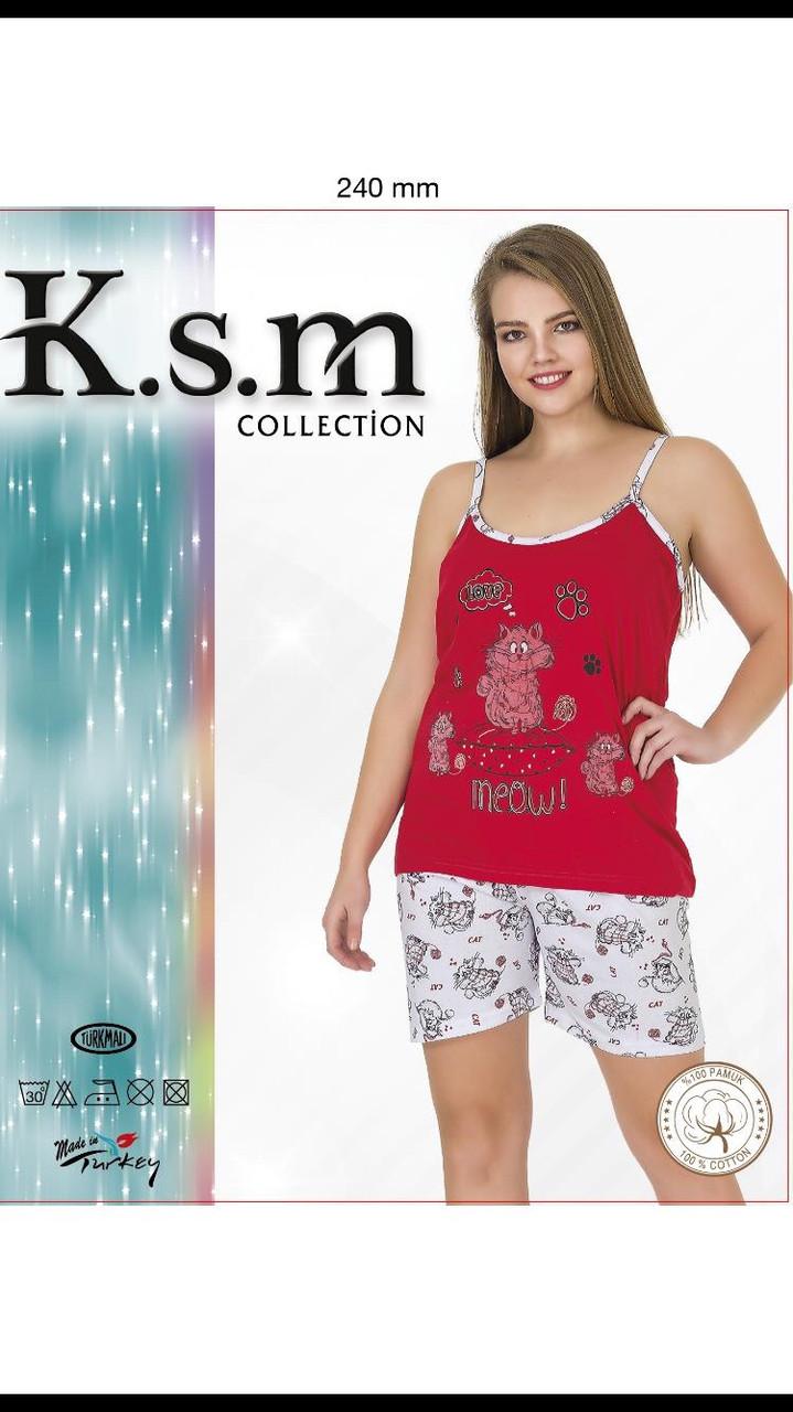 Пижама женская Турция футболка-шорты
