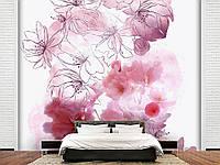 """Флизелиновые Фотообои """"Абстрактные цветы (1002365)"""" от производителя за 1 день. Любая картинка и размер. ЭКО-обои"""