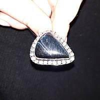 Питерсит соколиный глаз кольцо капля с натуральным питерситом в серебре 19,7 размер Индия, фото 1