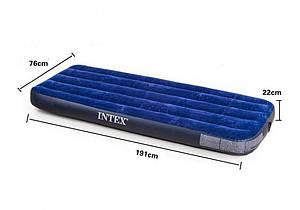 Надувной матрас кровать INTEX 64756,  76X191X25 см