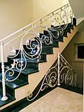 Кованые перила для лестницы. Ограждение лестницы., фото 3