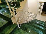 Кованые перила для лестницы. Ограждение лестницы., фото 6