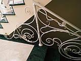 Кованые перила для лестницы. Ограждение лестницы., фото 7