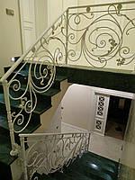 Кованые перила для лестницы. Ограждение лестницы., фото 1