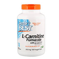 """L-Карнитин фумарат Doctor's Best """"L-Carnitine Fumarate"""" 855 мг (180 капсул)"""