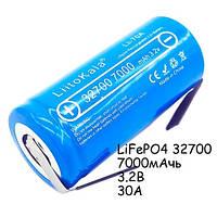 Аккумулятор 32700 высокотоковый LiFePO4 3.2В 7000мАч 30А Liitokala Lii-70A