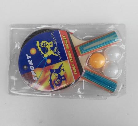 Теннис настольный 2 ракетки, 3 мячика 191232 в слюде, пинг понг