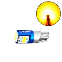 LED W5W T10 лампа в автомобиль, 6 SMD, теплый белый