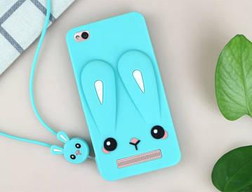 Чехол Funny-Bunny 3D для Xiaomi Redmi 3 Бампер резиновый  голубой