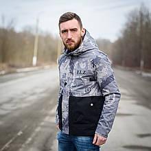 Чоловіча демісезонна куртка Y. L. Z, комбінована