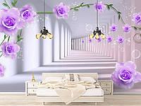 """Флизелиновые Фотообои """"Тоннель с цветами (1002365)"""" от производителя за 1 день. Любая картинка и размер. ЭКО-обои"""