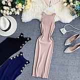 Женское платье голубое, фото 5