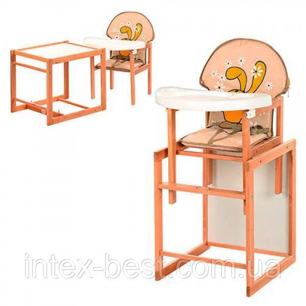 Детский деревянный стульчик для кормления M V-100-31-3