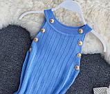 Женское платье голубое, фото 2