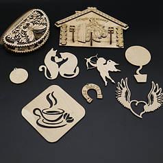 Деревянные заготовки из фанеры (для декупажа и творчества)