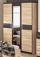 Шкаф 3Д Вероника Мебель Сервис (156х56.3х203.4 см) Дуб самоа + Венге темный, фото 1
