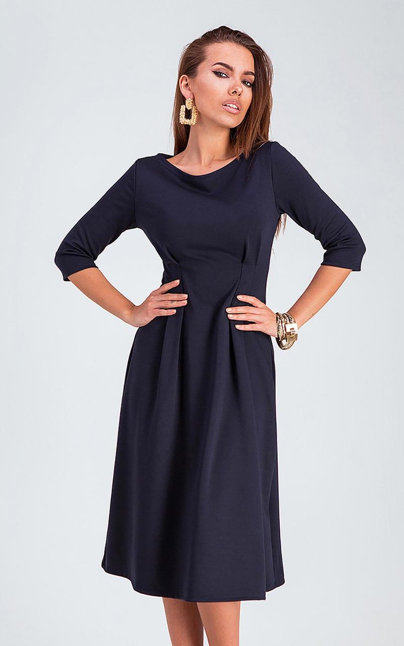 S, M, L / Класичне жіноче плаття Kain, темно-синій