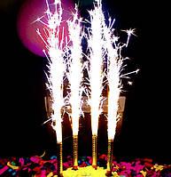 Свечи-фейерверк, фонтан в торт 12 см (упаковка 6 шт)