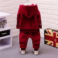 Бордовый теплый спортивный костюм для мальчика 104(4года)(р) весна-осень 00101