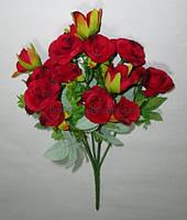 Букет темно-красных роз 30 см