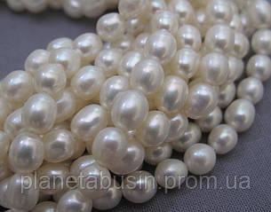 5.5*7.5 мм Жемчуг,  Натуральный камень, бусины, Форма: Рис, Длина: 35 см, фото 2
