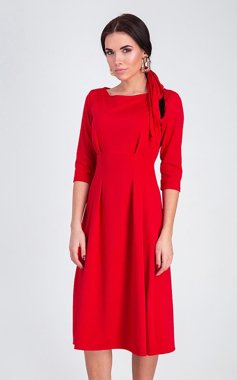 S, M, L / Класичне жіноче плаття Kain, червоний