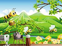 """Флизелиновые Фотообои """"Пчелки (1002448)"""" от производителя за 1 день. Любая картинка и размер. ЭКО-обои"""