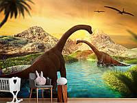 """Флизелиновые Фотообои """"Динозавры (1002490)"""" от производителя за 1 день. Любая картинка и размер. ЭКО-обои"""