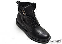 Мужские кожаные зимние ботинки 40 размер