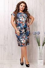Женское летнее платье в размерах:50,52,54,56.