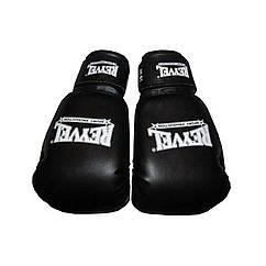 Боксерские перчатки Reyvel (винил) черные