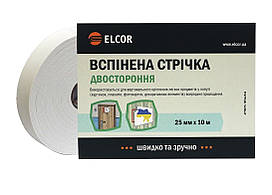 Двусторонняя вспененная лента ELCOR TEEVA2510 25мм * 10м белая