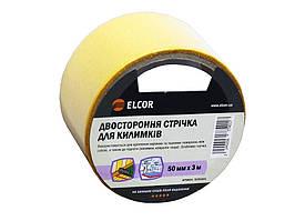 Двусторонняя лента для ковриков ELCOR TEFB5003 50мм * 3м на тканевой основе