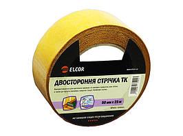 Двусторонняя лента ELCOR TEFB5025 50мм * 25м на тканевой основе